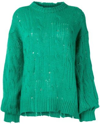 MSGM Slouchy Open Knit Jumper