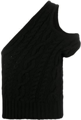 Telfar Cable Knit Off-Shoulder Top