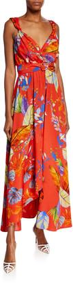 Pinko Regan Printed Twill Maxi Dress