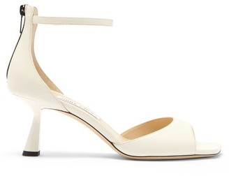 Jimmy Choo Reon 65 Leather Sandals - Cream