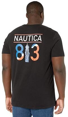 Nautica Big Tall Short Sleeve T-Shirt Crew Neck (True Black) Men's Clothing