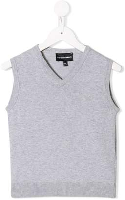 Emporio Armani Kids sleeveless fitted sweater