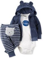 Carter's Baby Boys' 3-Pc. Hoodie, Bodysuit & Pants Set