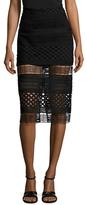 Style Stalker Harper Mesh Midi Skirt