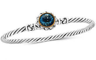 Effy Fine Jewelry Silver & 18K 3.60 Ct. Tw. Blue Topaz Bangle Bracelet