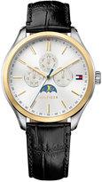 Tommy Hilfiger Men's Sport Lux Black Leather Watch 42mm 1791305