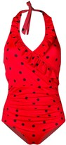 Ganni polka-dot swimsuit