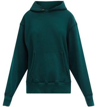 LES TIEN Brushed-back Cotton Hooded Sweatshirt - Green