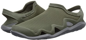 Crocs Swiftwater Mesh Wave (Black/Slate Grey) Men's Sandals