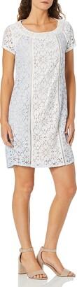 Nanette Lepore Women's S/S Shift Dress W/Combo Panels