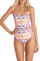 Billabong Women's Geo Print One-Piece Swimsuit
