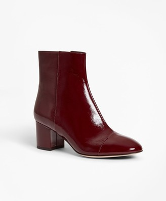 Brooks Brothers Patent Leather Ankle Boots