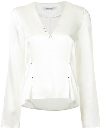 T By Alexander Wang Rivet Embellished Blouse
