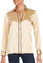 M Missoni Silk Blend Long Sleeve Shirt
