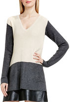 Vince Camuto Petite Colorblocked Waffle-Knit Sweater