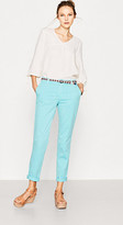 Esprit Chinos with woven belt in an ethnic look