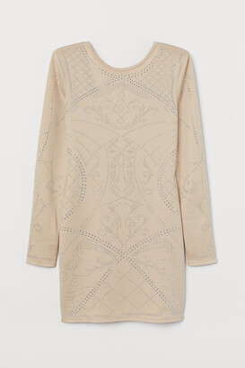H&M Fitted Dress with Studs