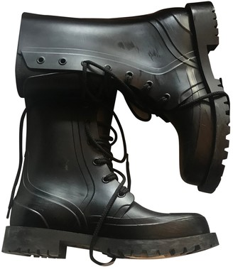 Christian Dior Camp Black Rubber Ankle boots