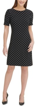 Tommy Hilfiger Dot-Print A-Line Dress