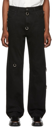 Raf Simons Black Rings Relaxed-Fit Jeans