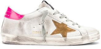 Golden Goose Superstar Sneaker in White & Shocking Pink | FWRD
