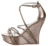 Camilla Skovgaard Metallic Multistrap Wedges