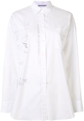Ermanno Scervino Oversized Glitter Graffiti Shirt
