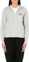 PLAY Embroidered-heart cotton-jersey hoody