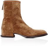 "Givenchy Men's ""Gunshot""-Destroyed Ankle Boots-TAN"