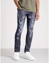 Philipp Plein Will Wait Distressed Studded Regular-fit Straight Jeans