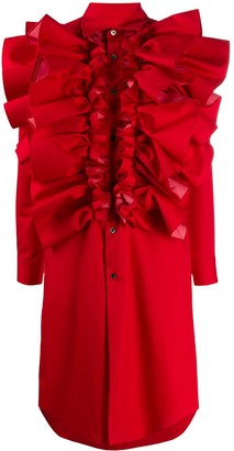 Comme des Garcons Ruffle-Trimmed Shirt Dress