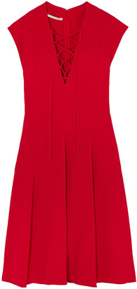 Stella McCartney Paula Lace-up Pleated Stretch-crepe Dress