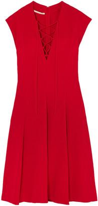Stella McCartney Paula Lace-up Pleated Stretch-crepe Dress