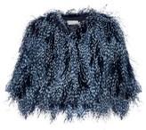 Mary Katrantzou Spike feather cropped jacket