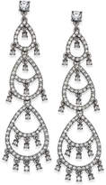 INC International Concepts I.n.c. Silver-Tone Crystal Pave Dangle Drop Earrings, Created for Macy's