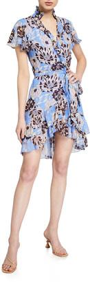 Alexis Melyssa Printed Short-Sleeve Dress