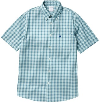 Brooks Brothers Checkered Short Sleeve Button-Down Shirt