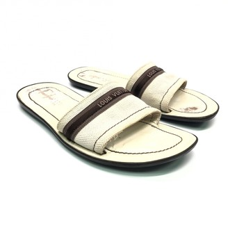 Louis Vuitton White Cloth Sandals
