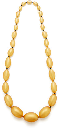 Monies Jewellery Andrea Gold-Foil Wood Necklace