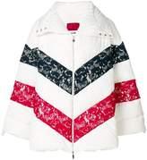 Moncler Gamme Rouge lace stripe jacket