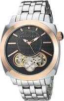 Sean John Men's 'Faux Automatic' Quartz Metal and Alloy Dress Watch, Color:Silver-Toned (Model: SJC0179001)