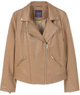 Violeta BY MANGO Zip-detail leather biker jacket