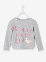 Vertbaudet Girls T-shirt with Iridescent Print