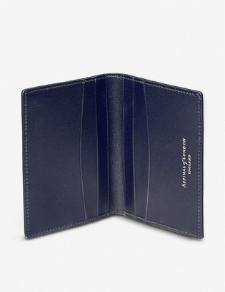 Aspinal of London Double Fold leather credit card holder