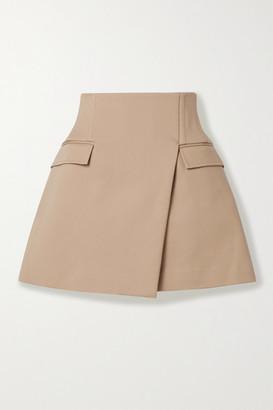 Dion Lee Frame Cotton-blend Mini Skirt - Beige
