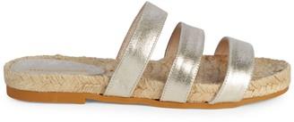 Saks Fifth Avenue Peggy Metallic Leather Espadrilles