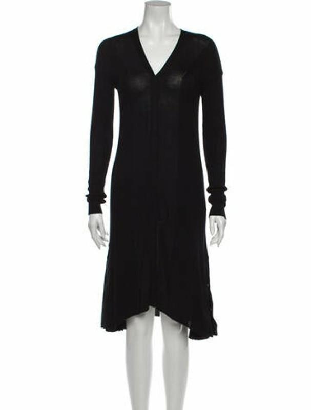 ADEAM V-Neck Knee-Length Dress w/ Tags Black
