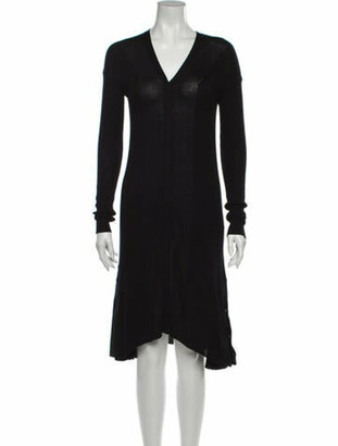ADEAM V-Neck Knee-Length Dress w/ Tags Black