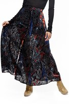 Free People Velvet Burnout Maxi Skirt
