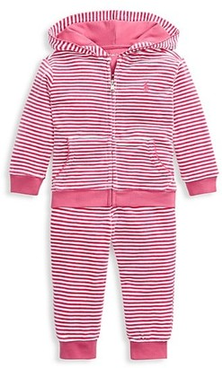 Ralph Lauren Baby Girl's Striped 2-Piece Hoodie & Sweatpants Set